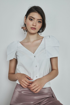 Nana Shirt (Asymmetric Ribbed Poplin Shirt)