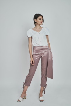 Hook Pants (Cropped Cotton-blend Slim-leg Pants)