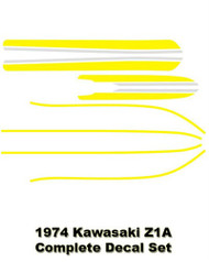 Z1 900 1974 Z1A Complete Decal Set - Yellow
