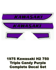 H2750 1975 Triple Complete Decal Set - Candy Purple