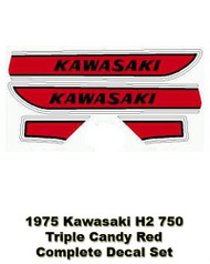 H2750 1975 Triple - Complete Decal Set - Candy Red