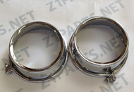 Z1 900, KZ900, KZ1000, Meter Cover Chrome Gauge Covers Top