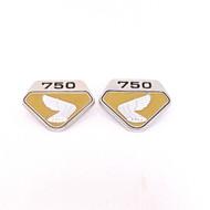 Honda CB750 K0 Side Emblems / Gold
