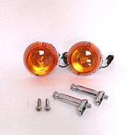 CB Turn Signal Combo Sets Chrome-Rear Single Wire Combo