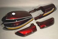 1975 Z1 900 Painted Body Set / Burgundy, Black & Gold