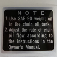 Kawasaki Z1 Chain Oil Tank Decal