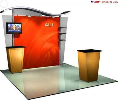 Alumalite Classic 10′ Trade Show Booth - AL1 Deluxe