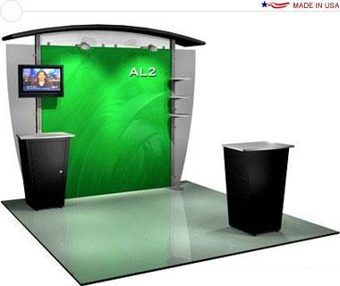 Alumalite Classic 10′ Trade Show Booth - AL2 Deluxe