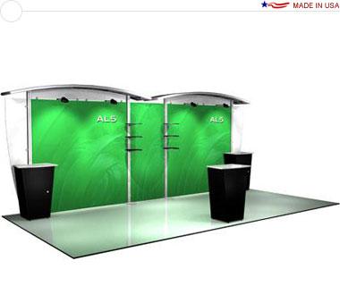 Alumalite Classic 20′ Trade Show Booth - AL5 Deluxe