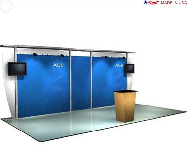 Alumalite Classic 20′ Trade Show Booth - AL6 Deluxe