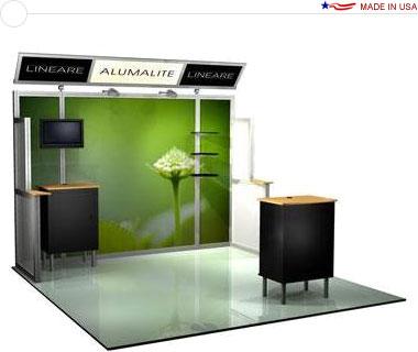 Alumalite Lineare 10′ Trade Show Booth - AL7 Deluxe