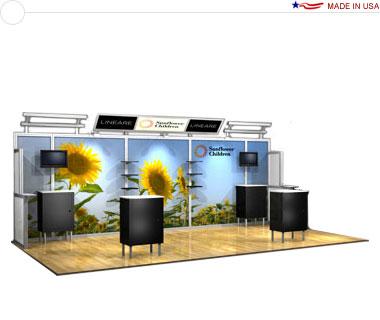 Alumalite Lineare 20′ Trade Show Booth - AL8 Deluxe