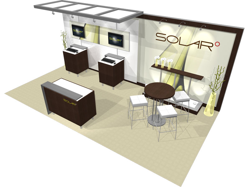 Trade Show Booth Hs Code : Solar a  inline trade show booth epic displays