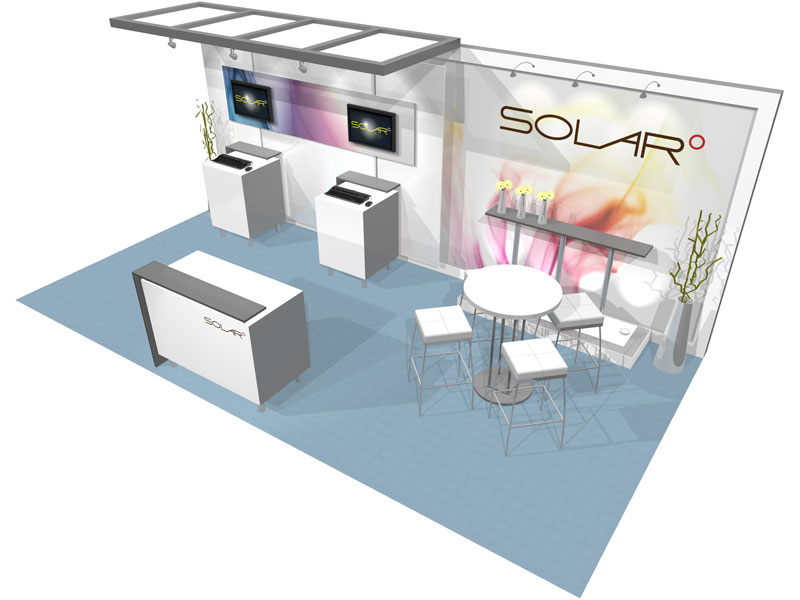 Exhibition Booth Printing : Solar a  inline trade show booth epic displays