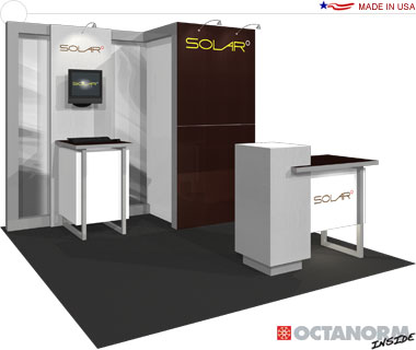 Solar E Hybrid Exhibit 10′ × 10′ Inline Trade Show Booth
