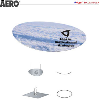 Aero™ Hanging Banner Sign • Curved Ellipse