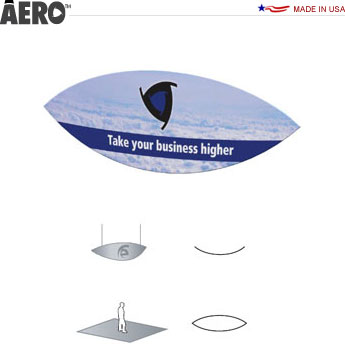 Aero™ Hanging Banner Sign • Curved Lens