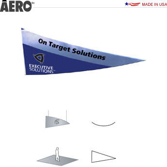 Aero™ Hanging Banner Sign • Curved Triangle