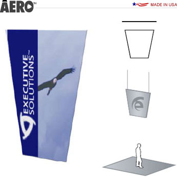 Aero™ Hanging Banner Sign • Tapered Rectangle