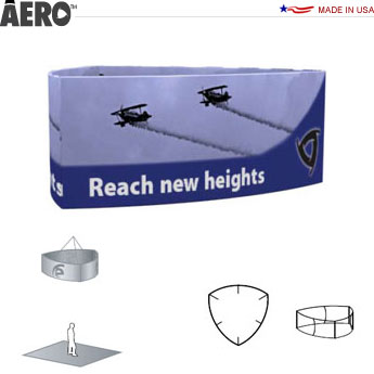 Aero™ Hanging Banner Sign • 3-Sided Curve
