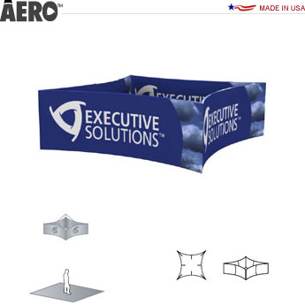 Aero™ Hanging Banner Sign • 4-Sided Curve