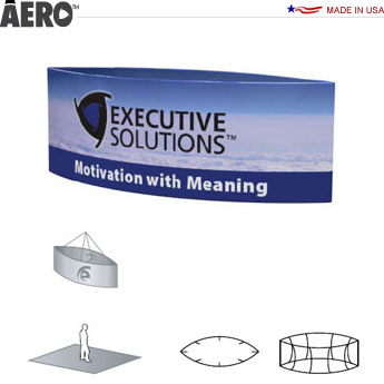 Aero™ Hanging Banner Sign • Oval