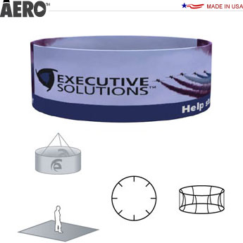 Aero™ Hanging Banner Sign • Round