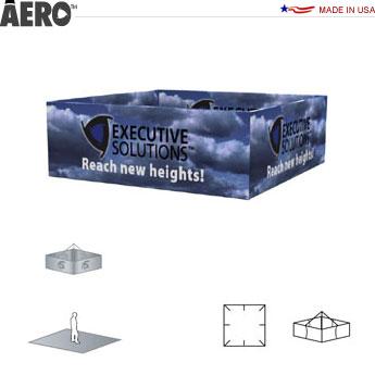 Aero™ Hanging Banner Sign • Square