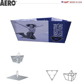 Aero™ Hanging Banner Sign • Tapered Triangle
