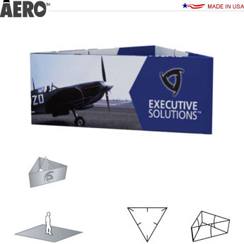Aero™ Hanging Banner Sign • Triangle