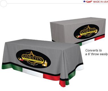 Convertible 8′/6′ Table Throw w/ Full Dye-Sub Print