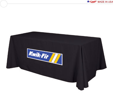 Economy 8′ Table Throw w/ Full Color Logo Print