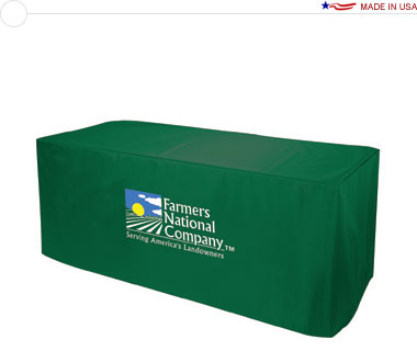 3-Sided 8′ Nylon Table Cover w/ Full Color Logo Print