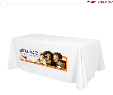 Standard 8′ Table Throw w/ Dye-Sub Print on Front