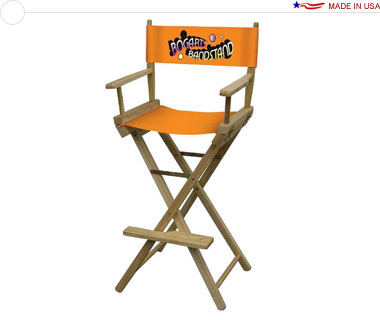 Directors Chair, Bar Height w/ Full-Color Imprint