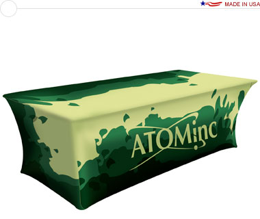 UltraFit™ 8′ Stretch Table Cover w/ Full Dye-Sub Print