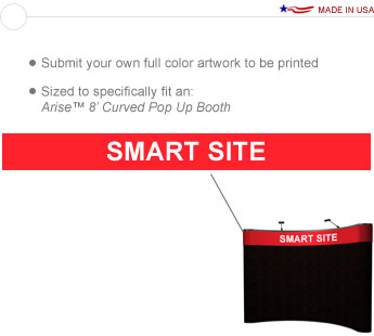 8′ Curve Graphic Wrap Header Banner