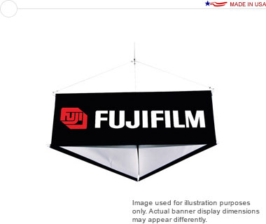 8′ 3-Sided Hanging Banner Display