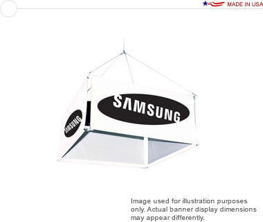 8′ 4-Sided Hanging Banner Display