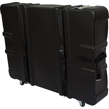 Hard Case w/ Wheels – 28″h × 8″d × 42″w