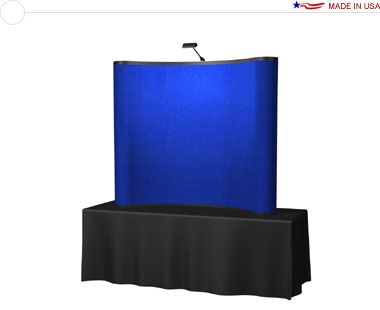 Arise™ 6′ Curved Pop Up Tabletop Display