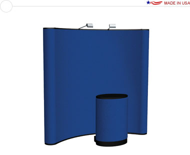 Arise™ 8′ Curved Pop Up Display