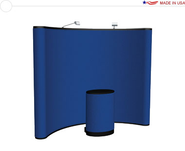 Arise™ 10′ Curved Pop Up Display