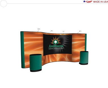 Arise™ 20′ Combination Pop Up Display w/ Central Mural