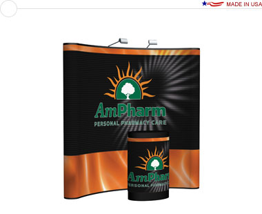 Arise™ 8′ Curved Pop Up Display w/ Full Mural