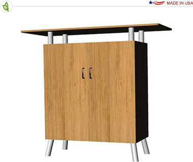 Double Bamboo Cabinet