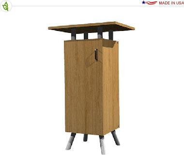 Single Bamboo Cabinet