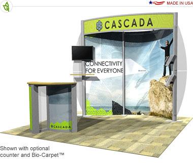 Cascada · 10′ × 10′ Inline Trade Show Booth