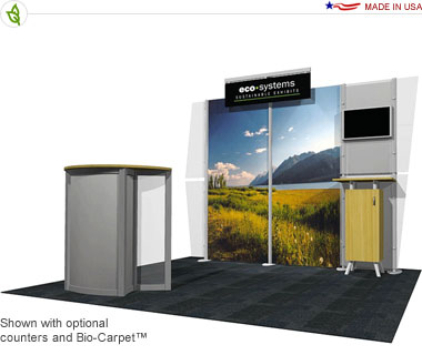 Deo · 10′ × 10′ Inline Trade Show Booth