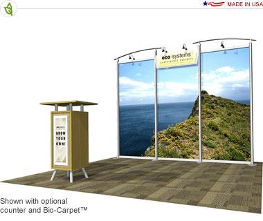Eco-Lite Lahar · 10′ × 10′ Inline Trade Show Booth